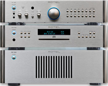 Rotel amplifier system.