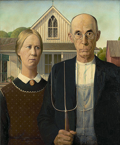 American Gothic by Grant Wood (1930).