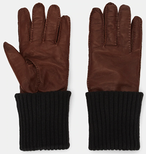 Ami Paris men's Gloves in leather & wool.