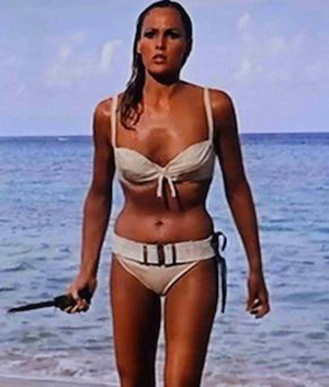 Ursula Andress as Honey Rider in Dr. No. Photo: Eon Productions.