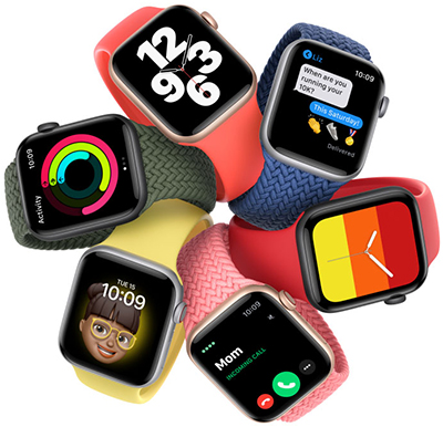 Apple Watches Series SE.