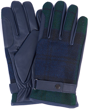 Barbour men's Newbrough Tartan gloves.