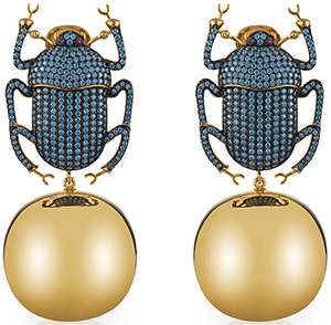 Begüm Khan Pharaoh Party earrings: US$1,200.