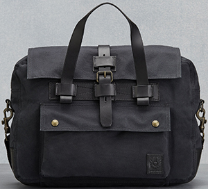 Belstaff men's Colonial Briefcase In Black Cotton Canvas: US$475.