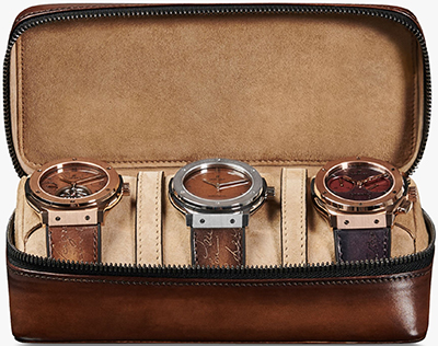 Berluti Venezia Calf Leather Travel Watch Case: US$1,600.
