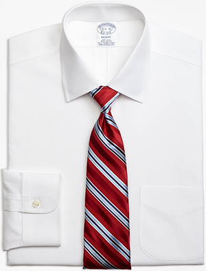 Brooks Brothers Stretch Regent Fitted Dress Shirt, Non-Iron Spread Collar men's shirt: US$98.