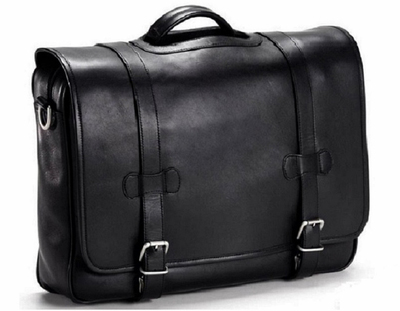 Bullet Blocker Leather Flap Briefcase: US$1,100.