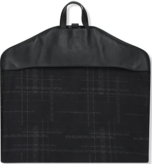 Canali Black Textured Calfskin Leather Garment Bag: US$597.