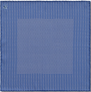 Canali men's Blue Silk Pocket Square with Geometric Motif: US$69.