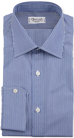 Charvet Men's Vertical Stripe Dress Shirt, Navy: US$545.