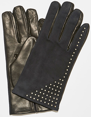 CoSTUME NATIONAL Tiny Studded Gloves.