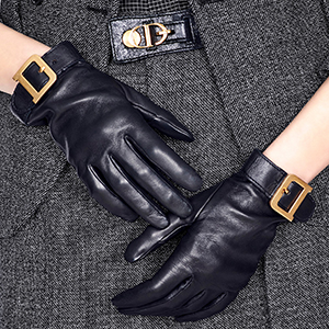 Dior women's D-Loop black gloves: US$950.