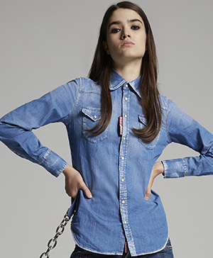 Dsquared2 women's Stretch Denim Western Shirt: US$590.