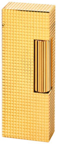 Dunhill Rollagas Hobnail 18ct Yellow Gold lighter.