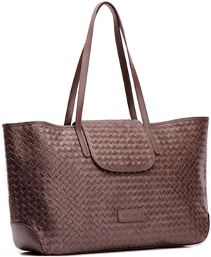 Farrutx Nuche Brown Woven Leather women's handbag: €319.