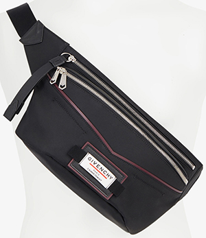Givenchy men's Downtown nylon belt bag: US$890.