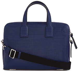 Loewe Goya Thin Briefcase Navy Blue: US$1,950.