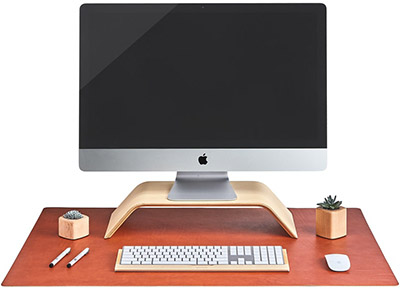 Grovemade Leather Desk Pad (Tan): US$230.