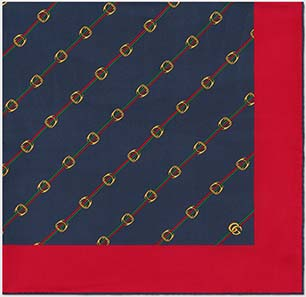 Gucci Scarf with Stirrups and Web print: US$495.