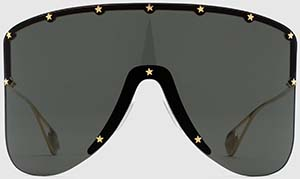 Gucci women's Mask sunglasses with star rivets sunglasses: US$1,015.