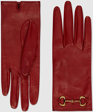 Gucci women's Gucci women's Leather gloves with Horsebit: US$630.