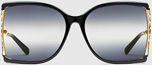 Gucci women's Square acetate and metal glasses: US$505.