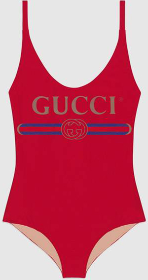 Gucci Sparkling swimsuit with Gucci logo: US$490.