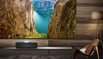 Hisense 120-inch 4K Ultra HD Smart Dual Color Laser TV with HDR.