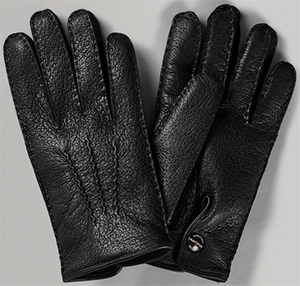 Huntsman Black Peccary men's leather gloves: £325.