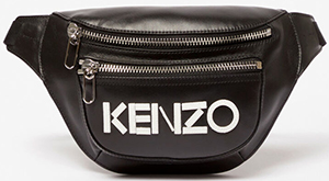 Kenzo men's logo leather bumbag: €325.