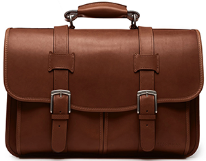 Korchmar Garfield Leather Laptop Briefcase: US$505.