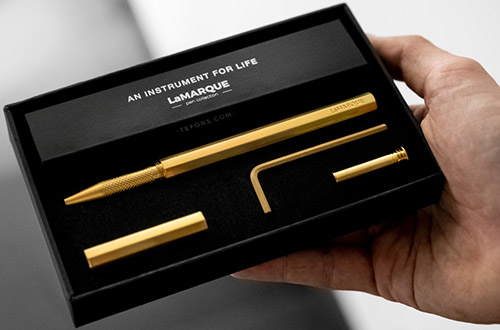 La Marque Brass Pen Collection.