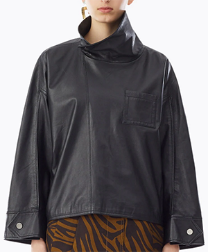3.1 Philip Lim women's Zip Leather Blouse.