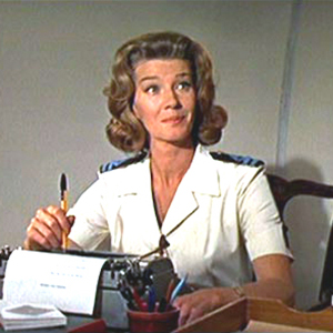 Lois Maxwell as Miss Moneypenny (1927-2007).