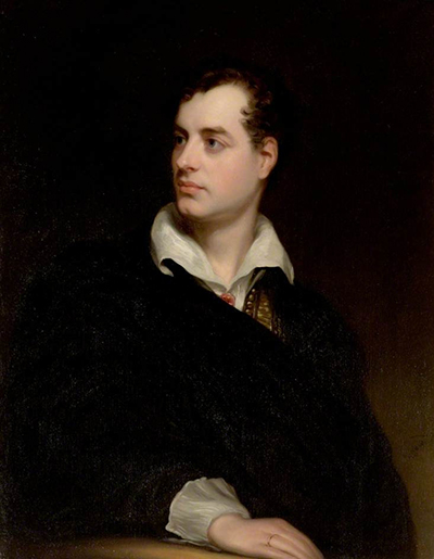 Portrait of Lord Byron by Thomas Phillips, c. 1813.