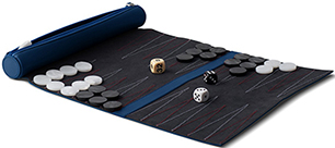 Lucrin leather travel backgammon: US$345.