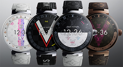 Louis Vuitton Tambour Horizon connected watches.