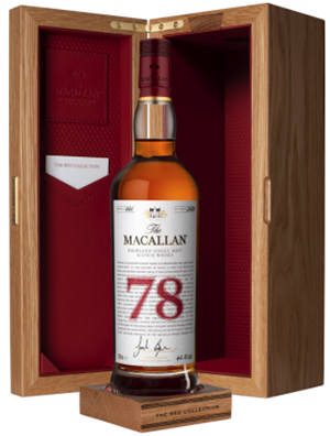 The Macallan Red Collection 78 Years Old.
