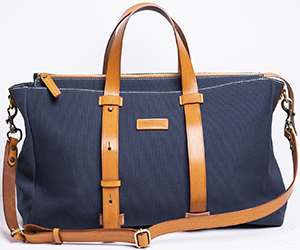 E.Marinella men's Weekend bag canvas & leather: €320.