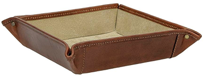 Maxwell Scott The Ilario Luxury Leather Desk Tidy: US$81.