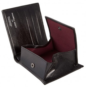 Maxwell Scott The Ticciano Bi-Fold Wallet With Coin Section: US$156.