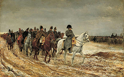 Campagne de France, 1814 by Ernest Meissonier (1864).