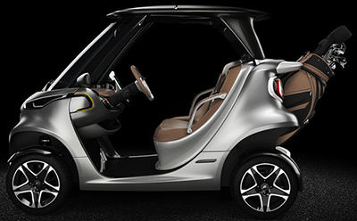 Mercedes-Benz Style Edition Garia Golf Car.