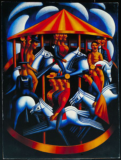 Merry-Go-Round, 1916 by Mark Gertler at Tate.