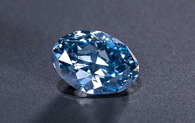 Okavango Blue 20.46 carat blue diamond.