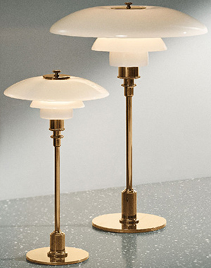 PH 3/2  Brass metalized tablel lamp: US$1,284.