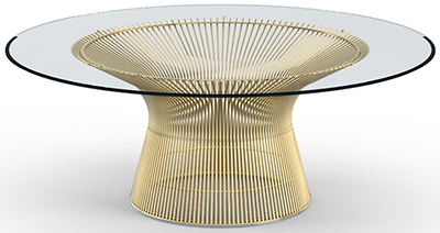 Platner Coffee Table - 42-inch (1966): US$2,380.