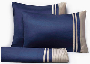 Ritz Paris Essentials Set of Vendôme Sheets, Navy & Havana.