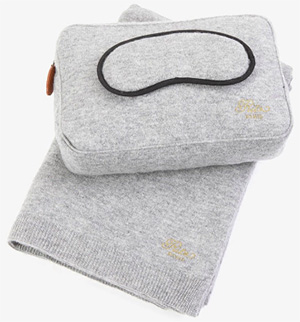 Ritz Paris Cashmere travel set, Grey: €580.