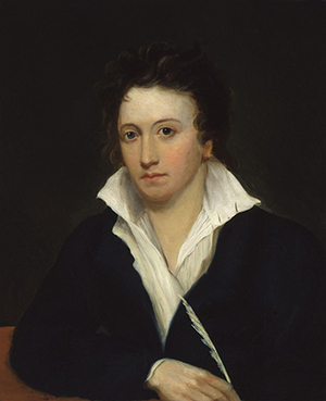 Portrait of Percy Bysshe Shelley, by Alfred Clint (1829).